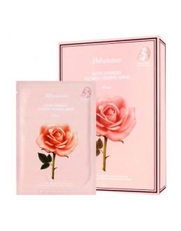 Тканевая маска с экстрактом розы JM SOLUTION GLOW LUMINOUS FLOWER FIRMING MASK ROSE