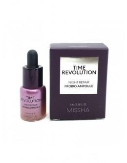 Восстаналивающая сыворотка для лица с пробиотиками Missha Time Revolution Night Repair Probio ampoule ( миниатюра - 5мл).